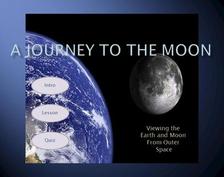 View Viewing the Earth and Moon From Outer Space Intro Lesson Quiz.