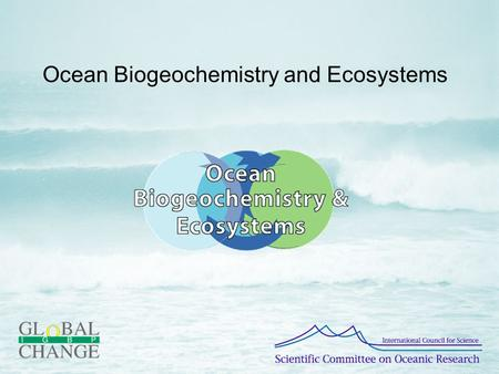 Ocean Biogeochemistry and Ecosystems. History Development How to contribute.
