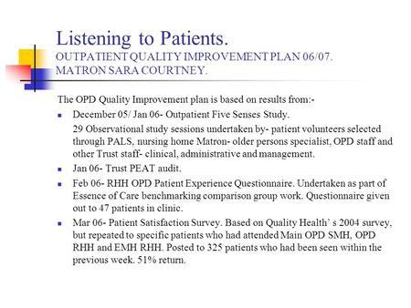 Improving diagnostic services for patients attending ...