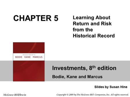 Investments Lecture 4 Risk And Return Introduction To