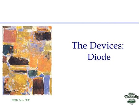 The Devices: Diode.