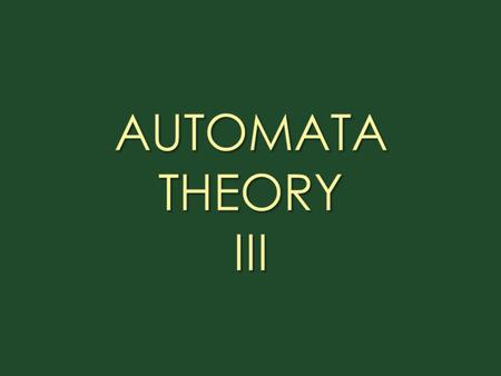 Dept. of Computer Science & IT, FUUAST Automata Theory 2 Automata Theory III Languages And Regular Expressions Construction of FA's for given languages.