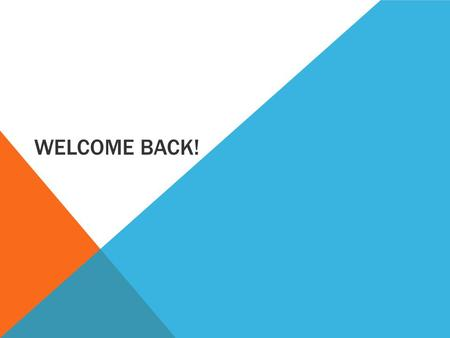 WELCOME BACK!. LEARNING INTENTIONS Students will be able to: Suggest and justify a preferred management style in HRM Explain the link between business.