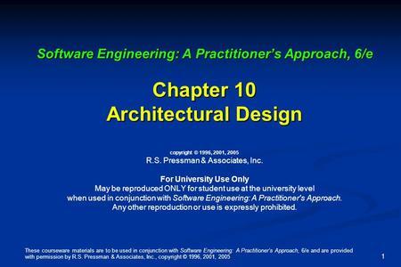 Pattern Based Design In Software Engineering Ppt Pressman