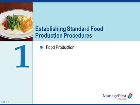 Establishing Standard Food Production Procedures