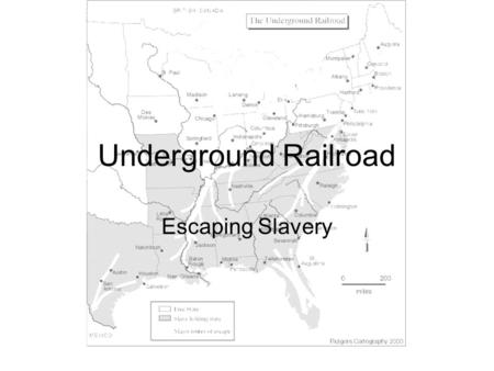 Underground Railroad Escaping Slavery.