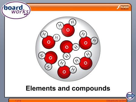 Boardworks Science Elements and compounds