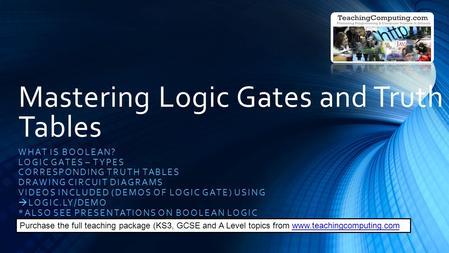 LOGIC GATES. - ppt video online download