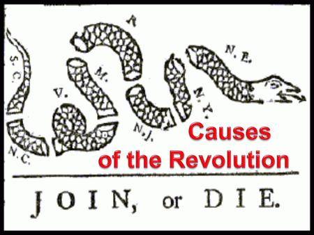 Causes of the Revolution.
