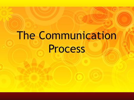 The Communication Process