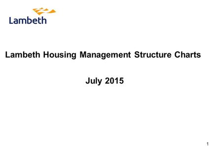 Lambeth Housing Management Structure Charts July 2015