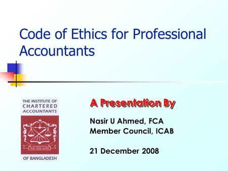 Code of Ethics for Professional Accountants