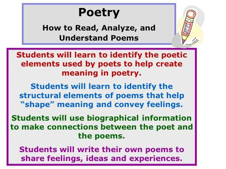 How to Read, Analyze, and Understand Poems