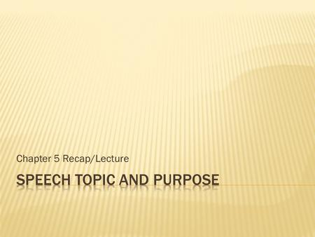 lecture speech topics