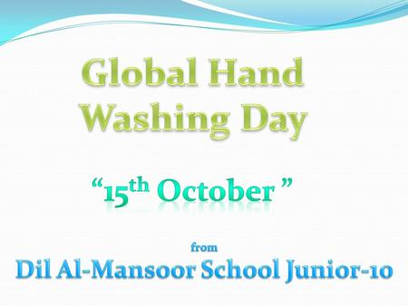 Global Hand Washing Day Dil Al-Mansoor School Junior-10