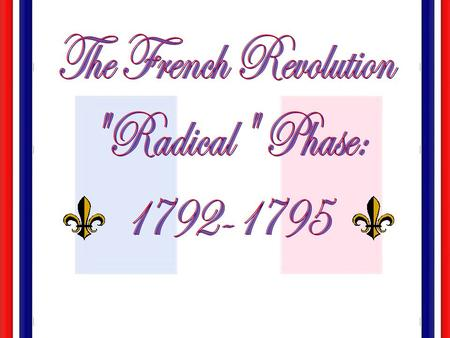 The French Revolution Radical Phase: Special Fonts: