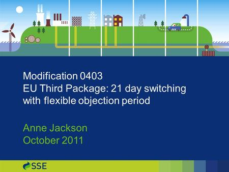 Subtitle etc Modification 0403 EU Third Package: 21 day switching with flexible objection period Anne Jackson October 2011.