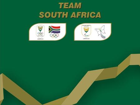 TEAM SOUTH AFRICA Final Team Size – Olympics 125 athletes 46 Coaches/Managers 9 General Team Management 12 Medical Team 17 sports codes.