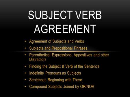 Boot camp day 1 subject verb agreement shifts in verb tense affect subject verb agreement ibookread PDF