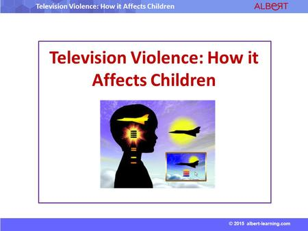 Television Violence: How it Affects Children