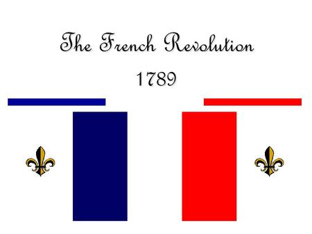 The French Revolution 1789.