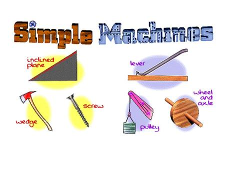 Simple Machines Simple Machines are tools that make work easier and have few or no moving parts. Most simple machines make work easier by trading the amount.