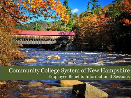 Community College System of New Hampshire Employee Benefits Informational Sessions.
