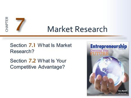 7 Market Research Section 7.1 What Is Market Research?