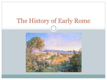 The History of Early Rome. Geography of Rome Rome is located on the boot shaped peninsula that is modern day Italy. Rome is located centrally in Italy.