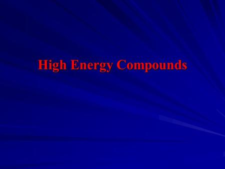 High Energy Compounds.   ATP often serves as an energy source. Hydrolytic cleavage of one or both of the high energy bonds of ATP is coupled to an.