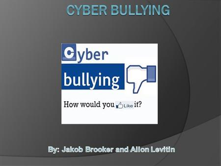 Cyber bullying is a form of bullying that takes place through technology. Cyber bullying can be used with phones, computers and tablets etc. Cyber bullying.
