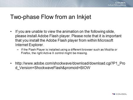 Mixing in a Static Mixer If you are unable to view the animation on