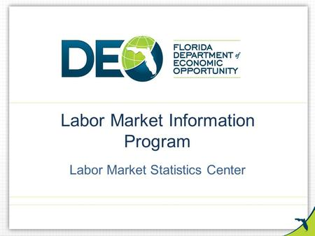 Labor Market Information Program Labor Market Statistics Center.