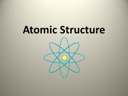 Atomic Structure. Inside an Atom Over time, scientists have come up with many theories about the inside of atoms. Today we believe that an atom has a.