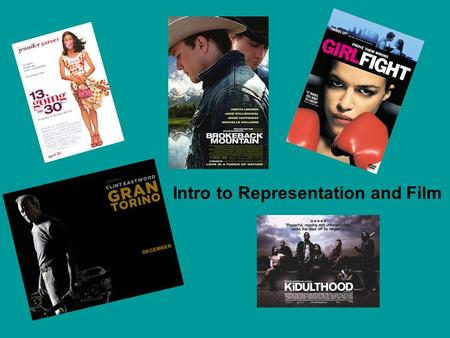Intro to Representation and Film. A Representation Recap What is meant by representation? What is meant by demographic? What factors determine a demographic?