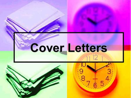 Cover Letters. What is a Cover Letter? A typed letter to introduce yourself A typed letter to introduce yourself Sent with resume and/or job application.