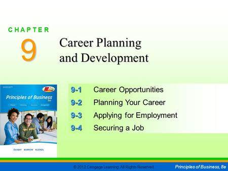 9 Career Planning and Development 9-1 Career Opportunities