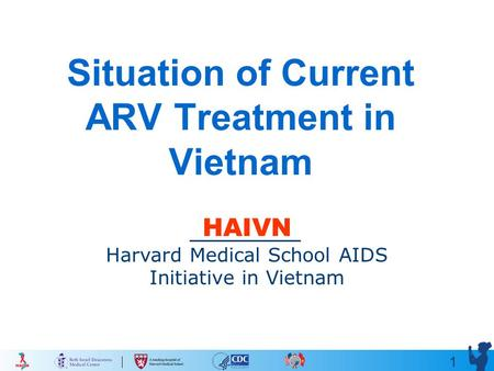 1 Situation of Current ARV Treatment in Vietnam HAIVN Harvard Medical School AIDS Initiative in Vietnam.