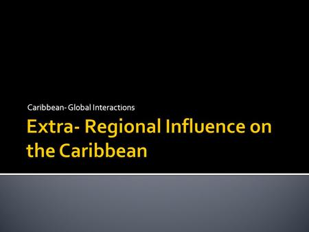 music and its influence on the caribbean essay Music plays an important role in the development of young people the different elements of music such as its lyrical content can evoke different emotions and impact on physical behaviour.