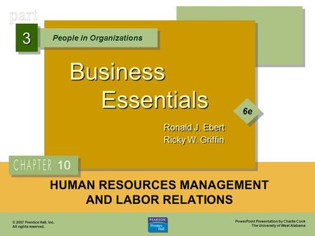 HUMAN RESOURCES MANAGEMENT AND LABOR RELATIONS