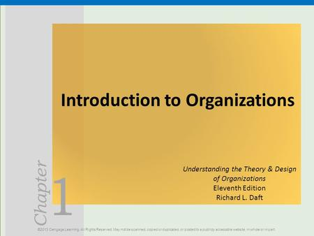 Introduction to Organizations