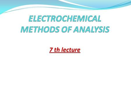 Ppt electrochemistry physical chemistry b. Sc first year second.