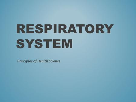 Principles of Health Science