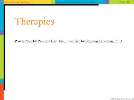 Therapies PowerPoint by Prentice Hall, Inc