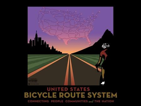 History of US Bicycle Routes In 1970's interest in long distance bicycle travel proliferates.