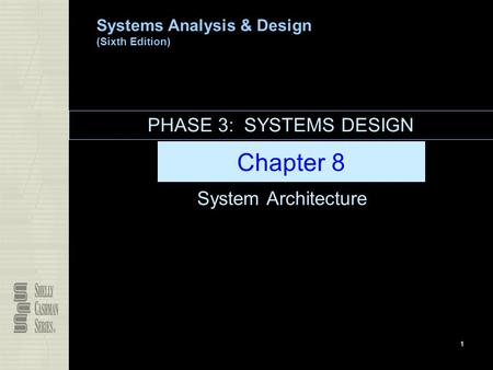 PHASE 3: SYSTEMS DESIGN Chapter 8 System Architecture.