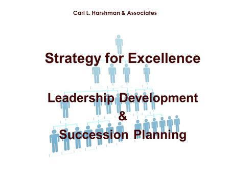 Strategy for Excellence Leadership Development & Succession Planning Carl L. Harshman & Associates.