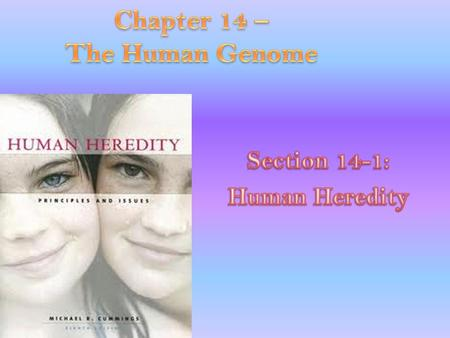 Chapter 14 – The Human Genome