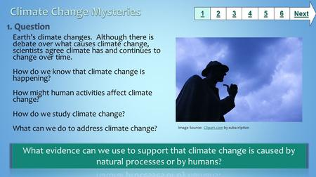 Earth's climate changes. Although there is debate over what causes climate change, scientists agree climate has and continues to change over time. How.