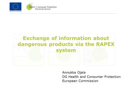 Exchange of information about dangerous products via the RAPEX system